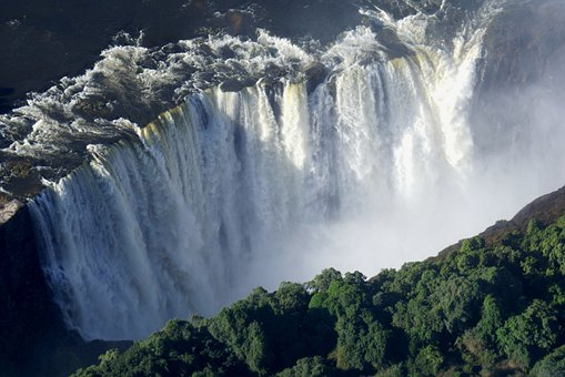 Victoria Falls, Africa, Zimbabwe, River, Nature
