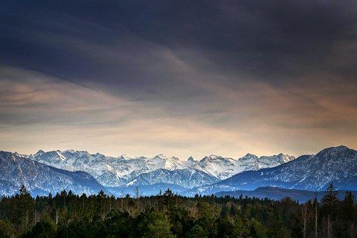 Alpine, Alpenblick, Panorama, Landscape, Mountains