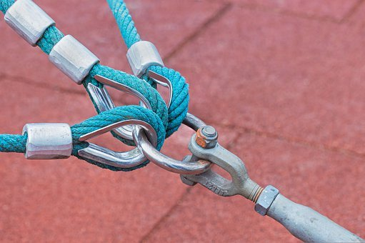 Connection, Thaw, Schlaufenösen, Shackle Hook, Ropes