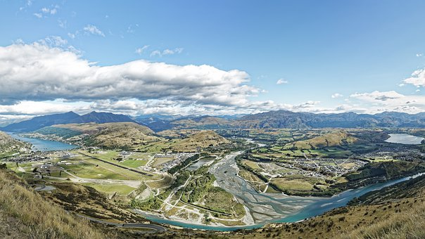 New Zealand, Lake Wakatipu, Shot Over River, River