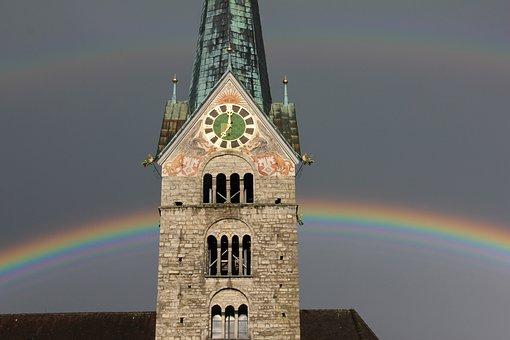 Steeple, Rainbow, Rainbow Colors