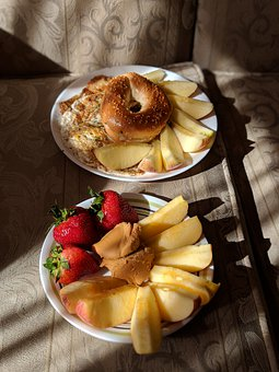 Apple, Strawberry, Food, Bagel, Nutrition, Sweet