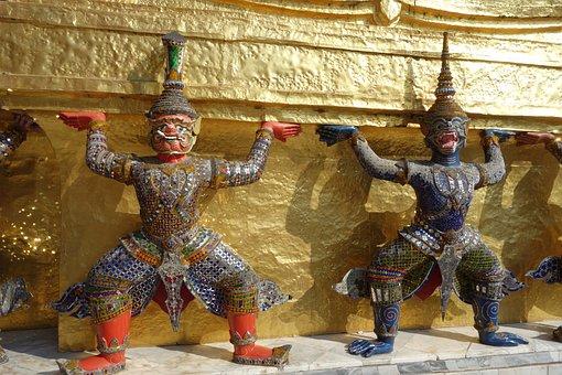Temple, Thailand, Temple Figures