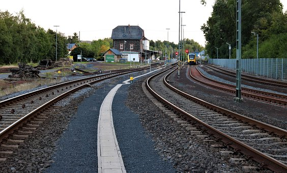 The Train Station In The West Of The Castle, Rails