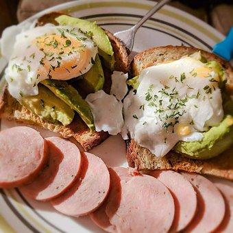 Eggs, Avocados, Turkey Kolbassa, Breakfast, Ingredients