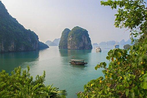 Ocean, Bay, Vietnam, Cliff, Limestone, Sea, Travel
