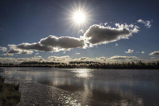 Argentina, Lagoon, Lake, Water, Sun