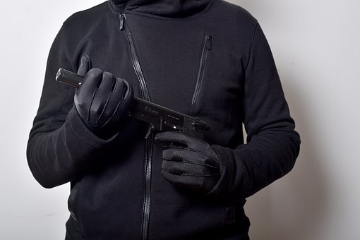 Gloves, Human Hand, Evil, Gun, Weapon, Handgun