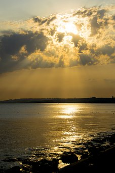 Sunset, Marine, Yellow, Landscape, Sky, Reflection