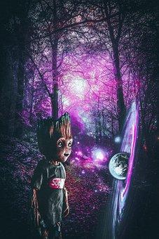 Forest, Background, Photoshop, Surrealism, Planet, Land