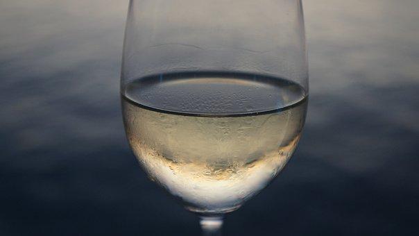 Wine, Whitewine, Sea, Blue Wine