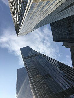 Office, High, Rise, Buildings, Downtown, Finance, City