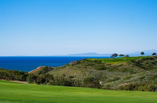 Golf, Ocean, Pacific, Beach, California, Coast, Sea