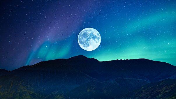 Night, Moon, Fantasy, Dark, Moonlight