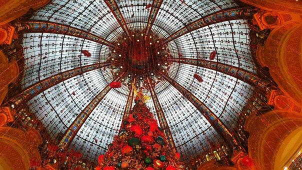 Christmas, Lafayette, Paris, France, Decoration