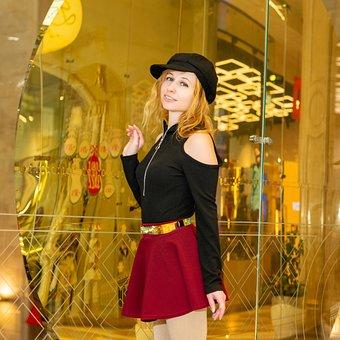Fashion, Skirt, Portrait, Belt, Headdress