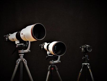 Background, Lenses, Cameras, Three, Focus