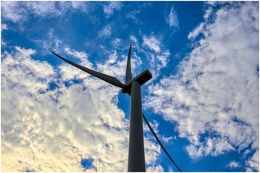 Pinwheel, High, Sky, Rotor Blades, Clouds, Wing