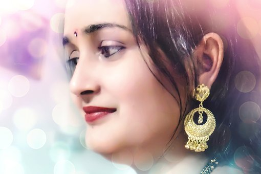 Indian, Woman, Girl, Jewelry, Face, Classic, Culture