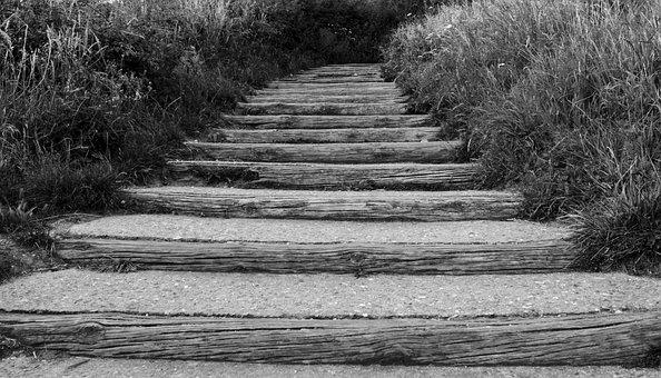 Gradually, Far, Path, Stairs, Ladder