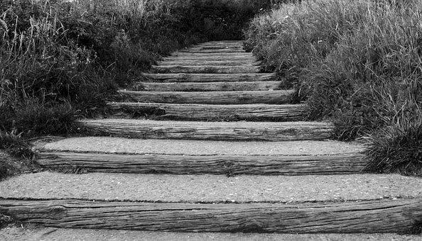 Gradually, Far, Path, Stairs, Ladder, Rise, Growth