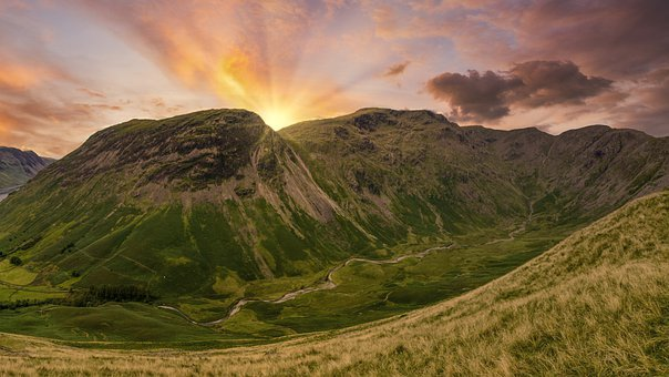 Mountain, Sunset, Scenic, Valley, Landscape, Hiking