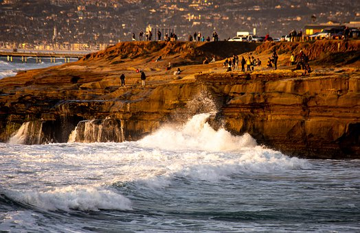 Cliff, California, Coast, Nature, Landscape, Outdoors
