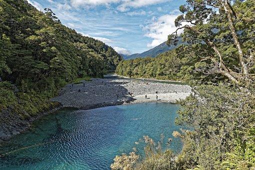 New Zealand, Makarora River, River
