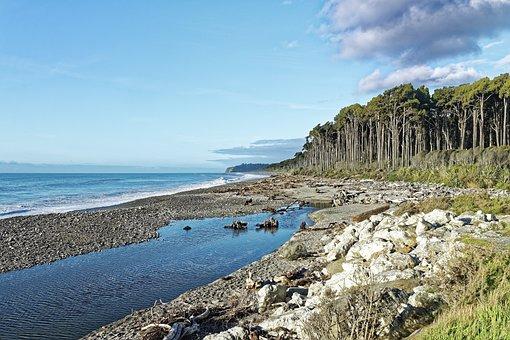 New Zealand, Tasman Sea, Sea, Water