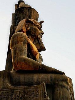 Ramses, Pharaoh, The Throne, Egypt, Statue, Memphis