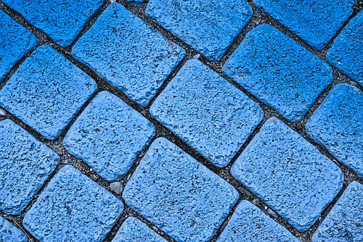 Texture, Pavers, Painting, Road, Roadway