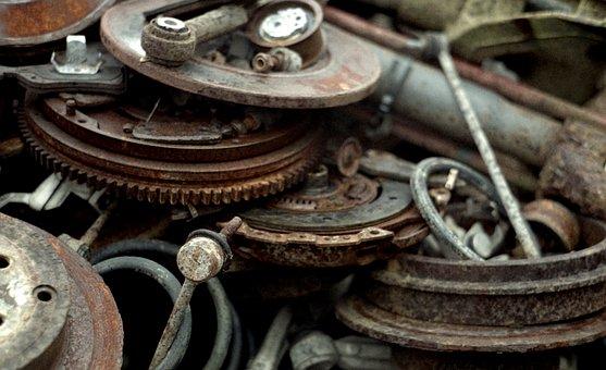 Scrap Yard, Car-parts, Old, Scrap, Parts, Garbage
