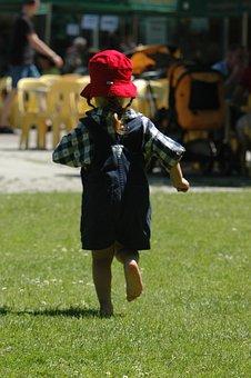 Barefoot, Small Child, Girl, Childhood