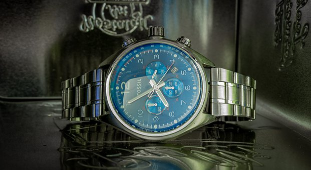 Fossil, Clock, Wrist Watch, Jewellery, Fashion, Time