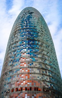 Barcelona, Torre Agbar, Tower, Spain, Building