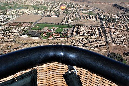 Hot Air Balloon, Ballooning, Albuquerque Nm, Up Here