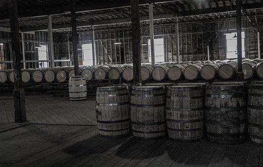 Buffalo Trace, Whiskey, Barrels, Barn, Alcohol, Tank