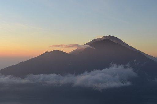 Bali, Volcano, Sunrise, Indonesia