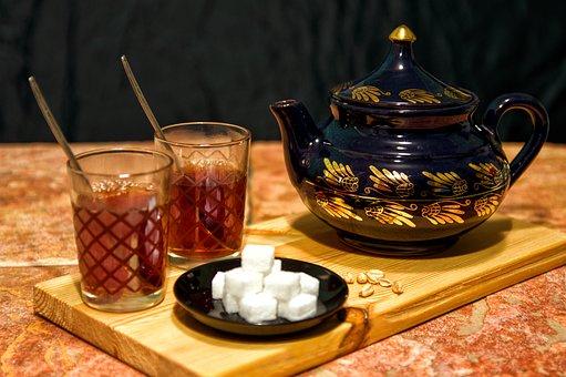 Teapot, Tee, Sugar, Breakfast, Delicious