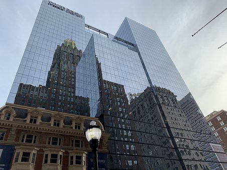 Baltimore, Maryland, City, Buildings, Reflection, Urban