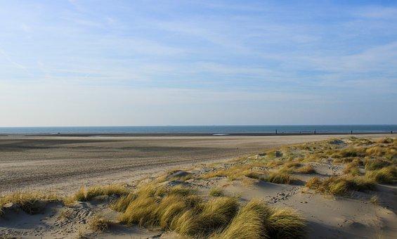 West-vlaanderen, Background, Coast, North Sea, Sky