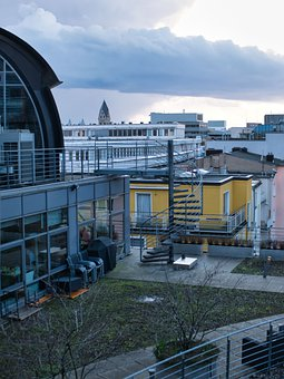 Roof Garden, Cologne, Roofs, Roof, Building, City