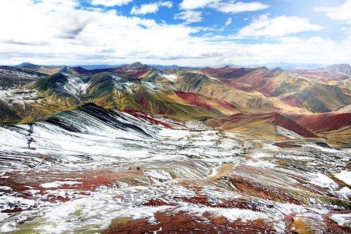 Peru, Color, Mountain, Rainbow, Nature, Landscape, Rock