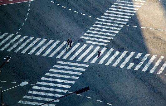 Junction, Crosswalk, Transition, Road