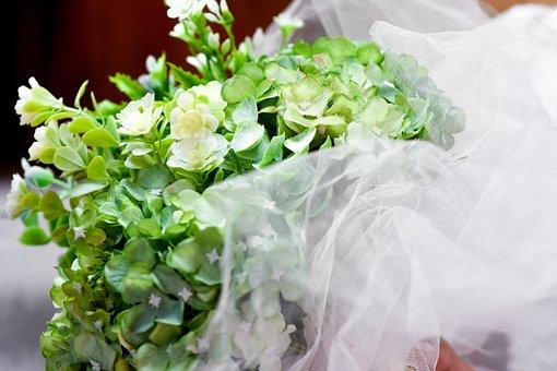 Bouquet, Bridal, Green, Wedding, Bride, Flowers, Easter