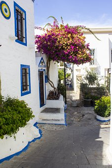 Bodrum, Old House, Home, Old, Window, Blue