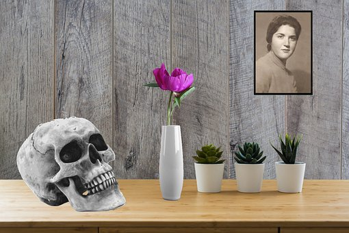 Table, Flowers, Inside, Writer