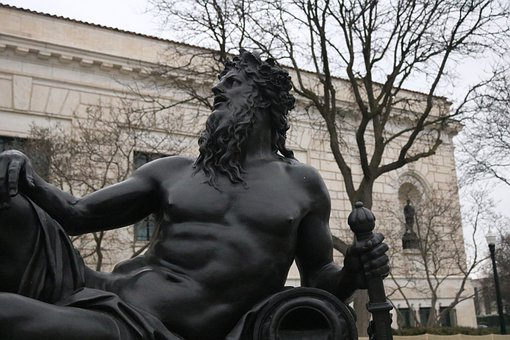 Detroit Institute Of Arts, Detroit, Statue, Male