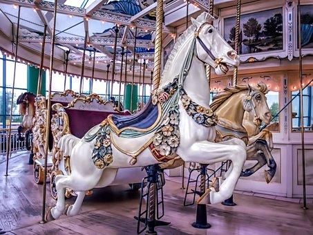 Carousel, Merry Go Round, Merry-go-round, Horse, Fun
