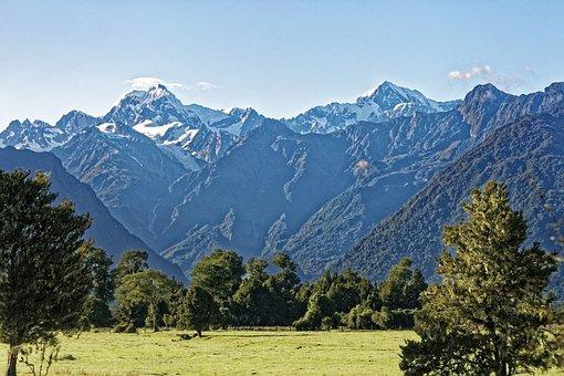 New Zealand, Mount Tasman, Mount Cook